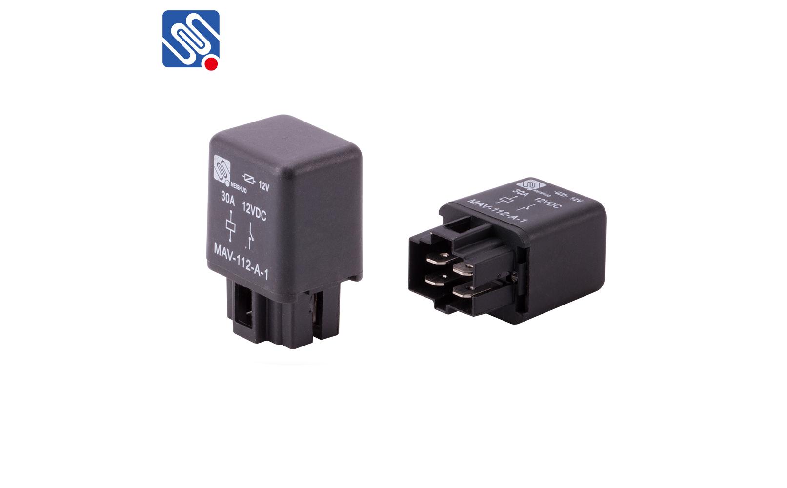 1 1P510102A8 4 pin 30 amp 12 volt relay mav 112 a 1_meishuoen