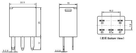 relay volt diagram wiring spdt mas