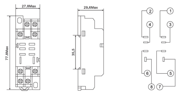 8 pin relay base diagram uff08ptf08a   meishuoen