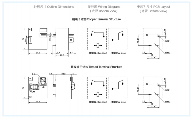 outline dimensions, wiring diagram and pcb layout of 30a rel_zhejiang  meishuo electric technology co.,ltd  zhejiang meishuo electric technology co.,ltd